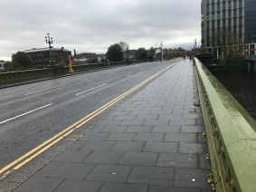 Albert Bridge Road Topside in Glasgow over the River Clyde