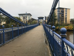 St Andrew's Suspension Bridge Walkway at Glasgow Green