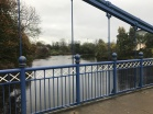 The St Andrew's Suspension Bridge at Glasgow Green River Clyde