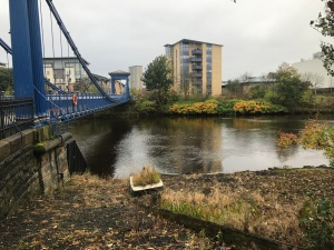 St Andrew's Suspension Bridge River Clyde Bank Glasgow Green