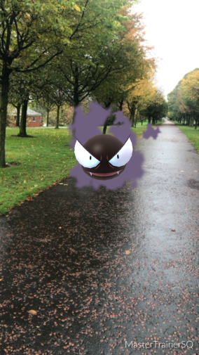 Halloween 2017 Pokémon Go Hunting Gastly Glasgow Green
