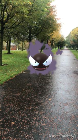 Halloween 2017 Pokémon Go Hunting Gastly Glasgow Green