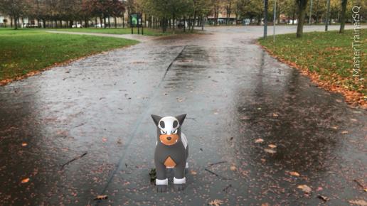 Halloween 2017 Pokémon Go Hunting Houndour Glasgow Green
