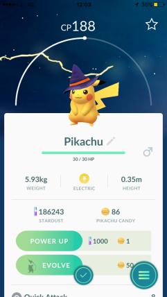 Halloween 2017 Pokémon Go Hunting Pikachu Caught