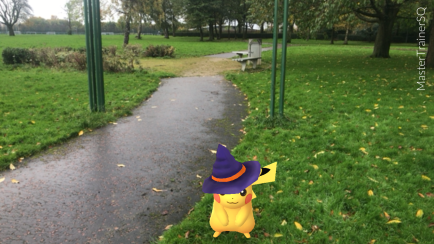 Halloween 2017 Pokémon Go Hunting Pikachu Daisy