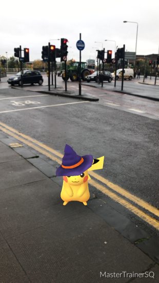 Halloween 2017 Pokémon Go Hunting Pikachu Glasgow City