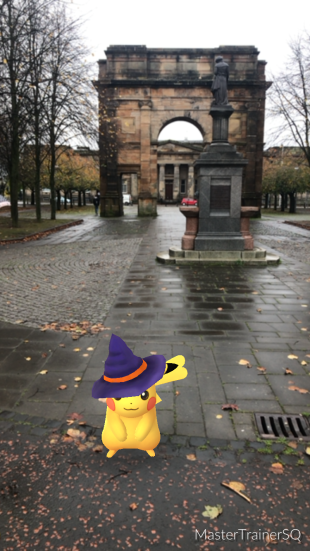 Halloween 2017 Pokémon Go Hunting Pikachu Glasgow Green