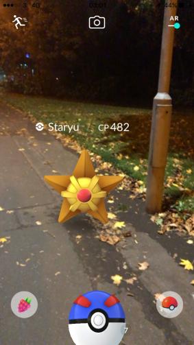 Halloween 2017 Pokémon Go Hunting Staryu