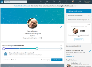 Sean Quinn LinkedIn Profile