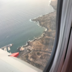 Tenerife Fom Plane Window