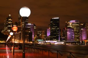 City Street Lights At Night 1