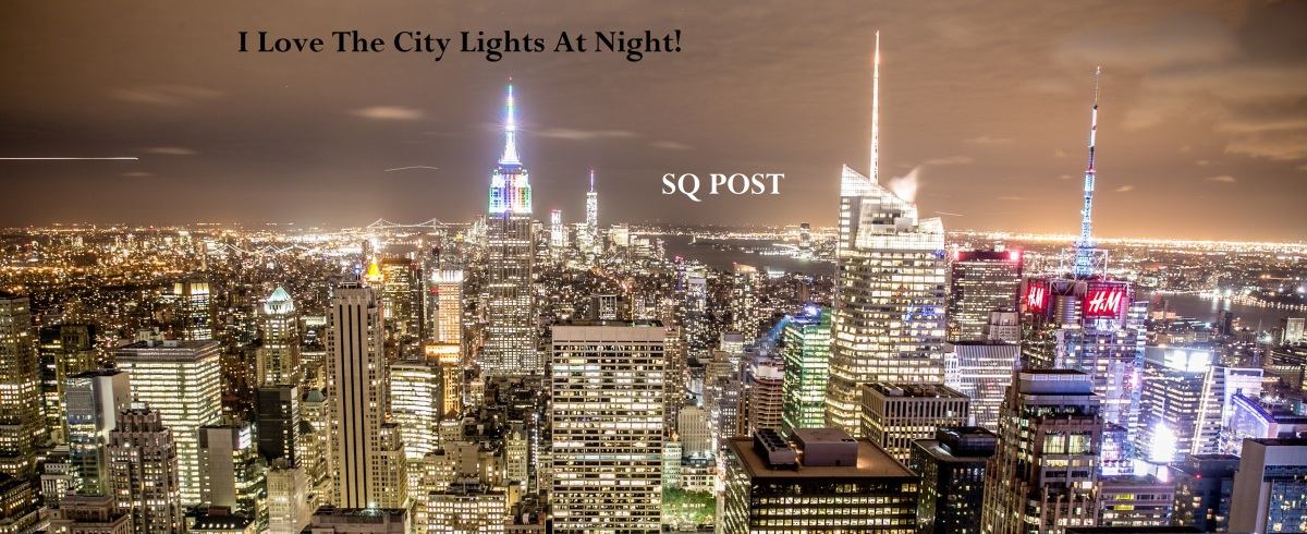 I Love The City Lights At Night!