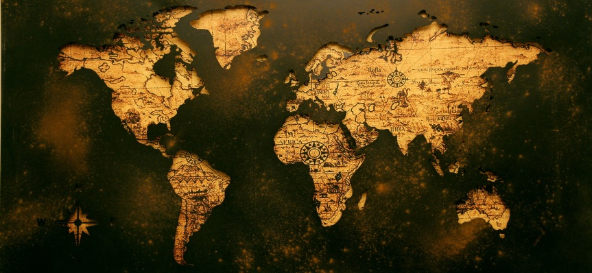 Black World Map