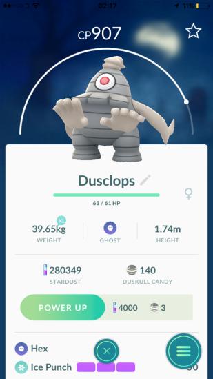 Caught Some New Gen 3 Pokémon Listing Dusclops
