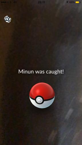 Caught Some New Gen 3 Pokémon Minun Pokeball Caught