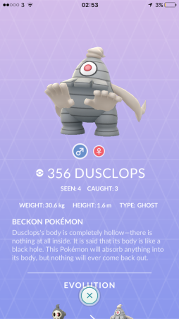 Caught Some New Gen 3 Pokémon Pokedex Dusclops