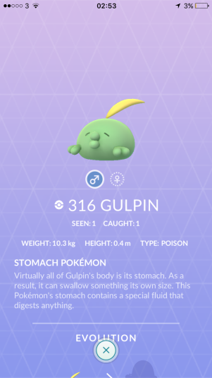 Caught Some New Gen 3 Pokémon Pokedex Gulpin