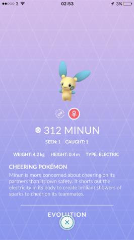 Caught Some New Gen 3 Pokémon Pokedex Minun