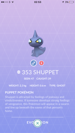 Caught Some New Gen 3 Pokémon Pokedex Shuppet