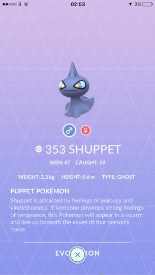 Caught Some New Gen 3 Pokémon Pokedex Shuppet