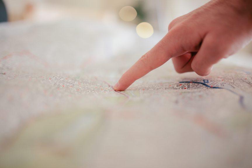 Finger On Map