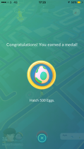 Medal 500 Eggs Pokémon Go Hunting At Night