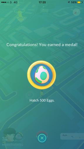 Medal 500 Eggs Pokémon Go Hunting At Night