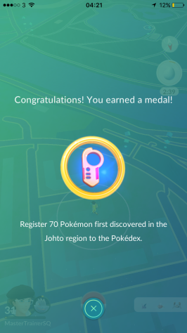 Medal 70 Johto Pokémon Go Hunting At Night