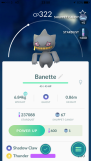 Pokémon Go Hunting At Night Banette