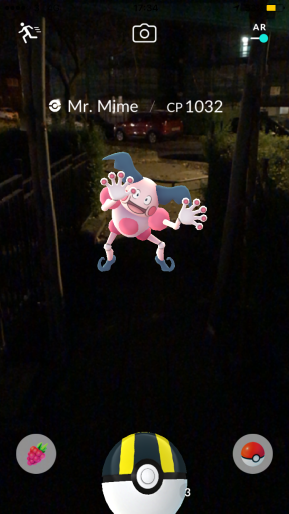Pokémon Go Hunting At Night Capturing Mr Mime