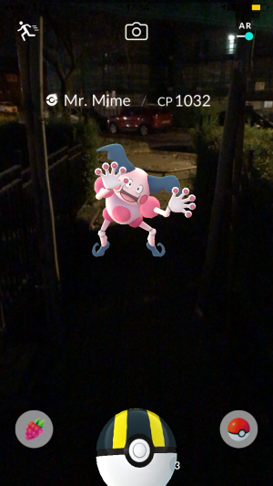 Pokémon Go Hunting At Night Capturing Mr Mime