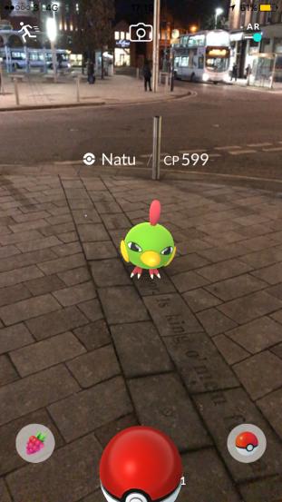 Pokémon Go Hunting At Night Capturing Natu
