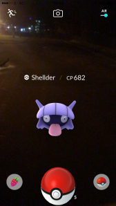 Pokémon Go Hunting At Night Capturing Shellder