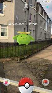 Pokémon Go Hunting At Night Capturing Skiploom