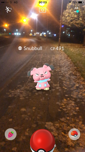 Pokémon Go Hunting At Night Capturing Snubbull
