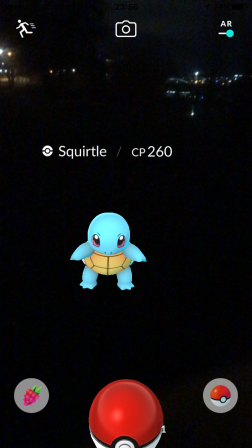 Pokémon Go Hunting At Night Capturing Squirtle