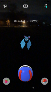 Pokémon Go Hunting At Night Capturing Zubat