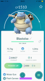 Pokémon Go Hunting At Night Listing Blastoise