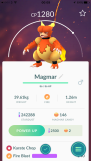 Pokémon Go Hunting At Night Listing Magmar