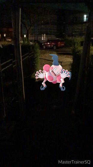 Pokémon Go Hunting At Night Mr. Mime