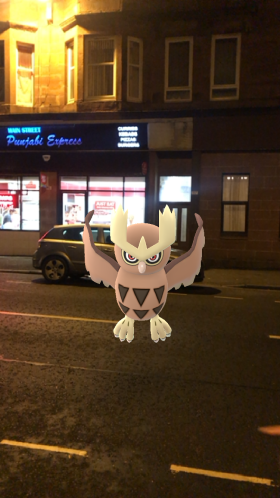 Pokémon Go Hunting At Night Noctowl