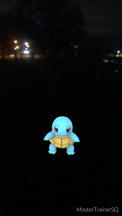 Pokémon Go Hunting At Night Squirtle