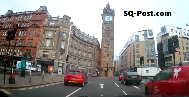 Car Dash Cam Glasgow Cross City Centre