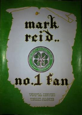 Scroll Drawing Celtic FC No.1 Fan