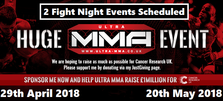 Ultra-MMA Fight Nights April + May 2018 (Dates Confirmed)
