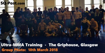 Ultra MMA Training Group Photo 18-March-2018 The Griphouse Gym Glasgow