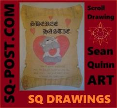 You Brighten Every Day   Sean Quinn Art   Scroll Drawing
