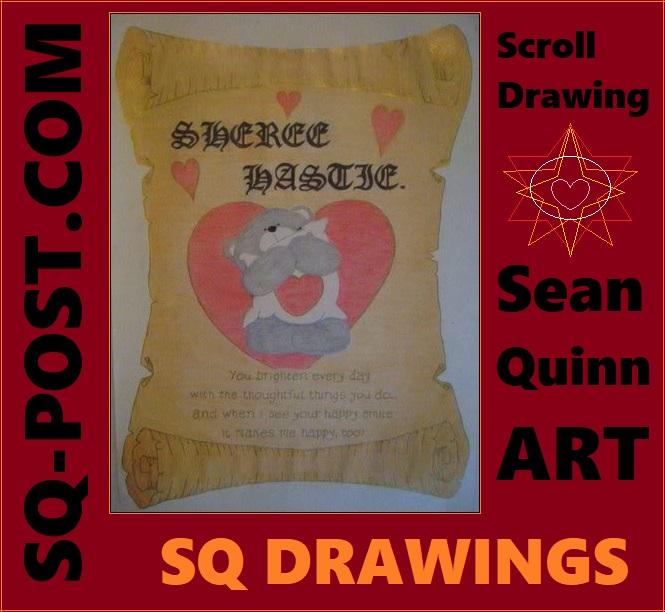 You Brighten Every Day | Sean Quinn Art | Scroll Drawing